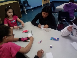 working on their Flip Books