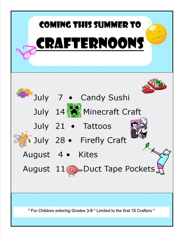 craft summer flyer
