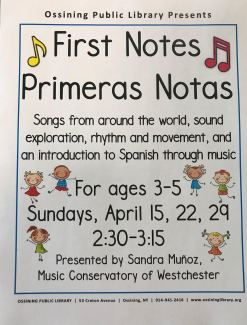 First Notes flyer